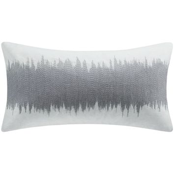Vibrancy Silver Metallic Embroidered Pillow