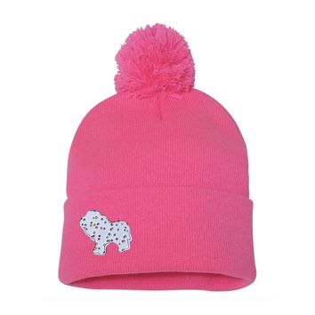 Circus Animal Frosted Animal Cookie Enamel Pin Pom Pom Beanie
