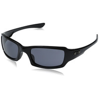 Oakley Men's Fives Squared Sunglasses Polished Black Frame Grey Lenses OO9238-04