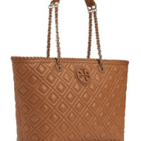 Tory Burch Brown Marion Quilted Slouchy Tote