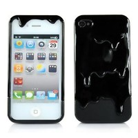 New 3D Melt Ice-cream Skin Hard Case Cover for Apple Iphone 4 4S Black
