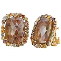 Naomi Sarna Brown Diamond Gold Earrings