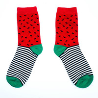 Watermelon Stripe Sock