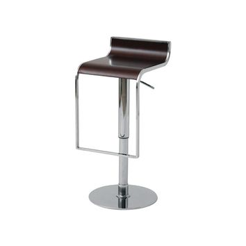 Nero Adjustable Height Bar or Counter Stool Dark Wood