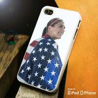 Alex Morgan USA Flag iPhone 4 5 5c 6 Plus Case, Samsung Galaxy S3 S4 S5 Note 3 4 Case, iPod 4 5 Case, HtC One M7 M8 and Nexus Case