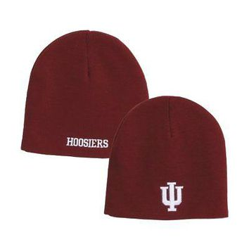 Indiana Hoosiers Official NCAA One Size EZ DOZIT Uncuffed Knit Beanie Hat by ...
