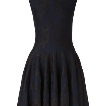 Alexander McQueen bird jacquard full dress