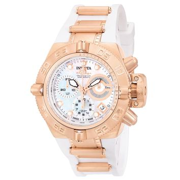 Invicta 0537 Women's Subaqua Noma IV Rose Gold Plated Steel Rubber Strap Chronograph Dive Watch
