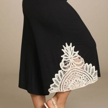 Plus Size Gaucho Lace Trim