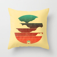 Go West Throw Pillow by Budi Satria Kwan
