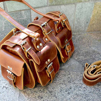 Leather Women bag, women bag, brown leather bag, Duffel Bag, Handbag, shoulder bag, crossbody bag, top handle bag