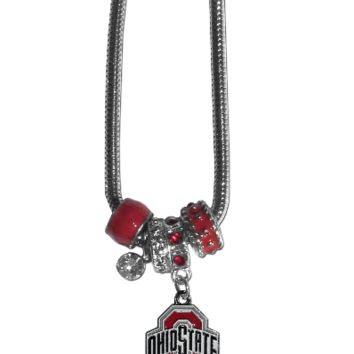 Ohio State Buckeyes Euro Bead Necklace