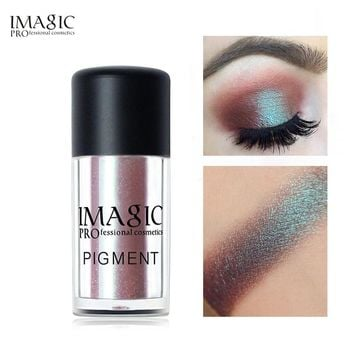IMAGIC Pro Glitter Eyeshadow Loose Powder Shimmer Eye Shadow Nude Pigments Metallic Sparkling Makeup Beauty Cosmetics 9 Colors