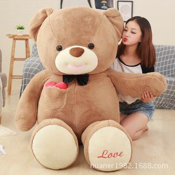 80cm Giant Teddy bear doll plush toys Stuffed Animals Bear Dolls with Love Birthday Gifts
