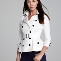 Burberry Brit Shenstone Cropped Trench Coat with Belt | Bloomingdale's