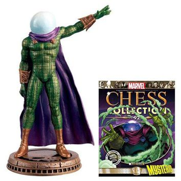 Amazing Spider-Man Mysterio Black Pawn Chess Piece with Collector Magazine #92