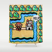 Super Mario 3 Level 1 Shower Curtain by Likelikes