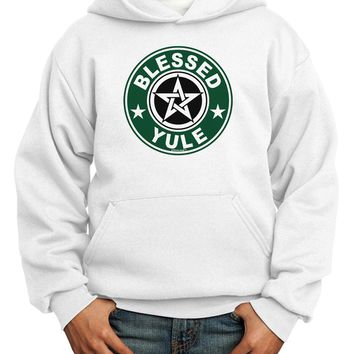 Blessed Yule Emblem Youth Hoodie Pullover Sweatshirt by
