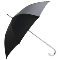 AllWeather 48 Black Umbrella with Aluminum Shaft and Handle