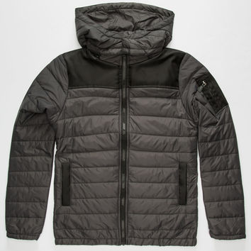 Univibe Longitude Boys Jacket Charcoal  In Sizes