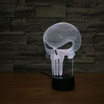 The Punisher Skull 3D LED Lamp