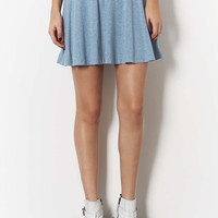 Blue Speckle Skater Skirt - Skirts - Clothing - Topshop USA