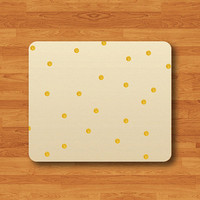 Parchment Gold Spot Vintage Old Paper Mouse Pad Electronics Pads Mousepad Computer Decal Personalized Gift For Friend Round Mousepad  Art