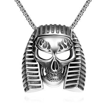 Pharaoh's Emblem Stainless Steel Necklace