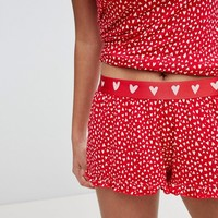 Hunkemoller Rebellious Love Ruffle Shorts at asos.com