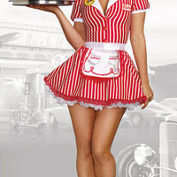 Diner Doll Waitress Costume
