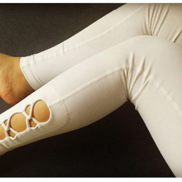 High elastic women's Yoga Pants, cross winding trouser legs, gym gym pants