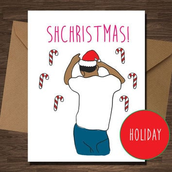 Bobby Shmurda Funny Christmas Card for Boyfriend Girfriend Rapper Rap Card Hip Hop SHCHRISTMAS