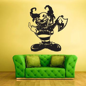 Wall Vinyl Decal Sticker Bedroom Clown Funnyman Horror Harlequin Funster  z313
