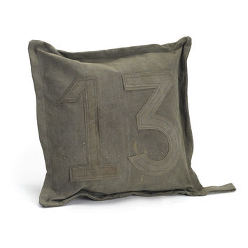 Vintage Tent Canvas Pillow #13 - Set of Two