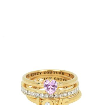 STACKED LOVE RING SET