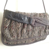 Vintage 80s 7 Seven Handbags by Dimitri // Shoulder Bag or Clutch // Medium