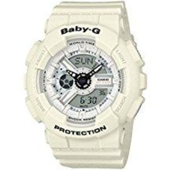 Casio Baby-G BA110PP-7A Punching Pattern Series Analog Digital White Watch