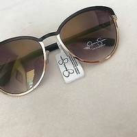 NWT Jessica Simpson Black and Gold Women's Sunglasses