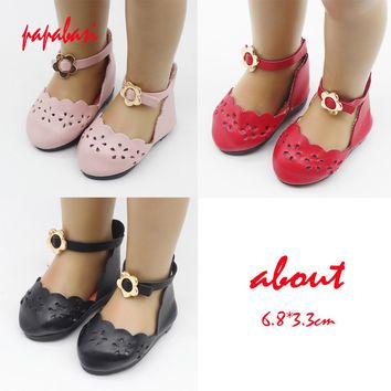 Papabasi Doll Accessories Fashion PU leather doll shoes for 18 inch 45cm American Girls Madame Alexander Doll Shoes