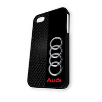 Audi logo on a field of Black iPhone 5/5S Case