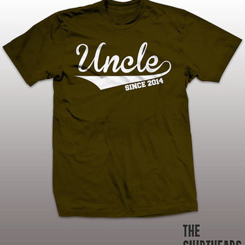 Gift for Uncle T-shirt - 2014, new baby, sister, brother, funny uncle, best uncle tee shirt, mens tshirt, family, new born
