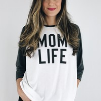 Mom Life Statement Baseball Tee
