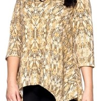 Tunic Top Animal Print Plus Sizes 1X 2X 3X 4X Hot Ginger