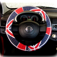 Steering wheel cover for wheel car accessories British Flag