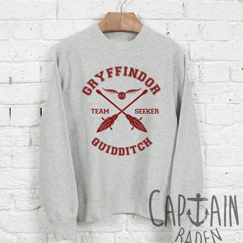 Gryffindor quidditch sweatshirt harry potter unisex sweatshirts