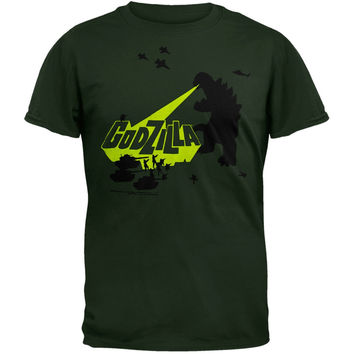 Godzilla - Army Men Soft T-Shirt