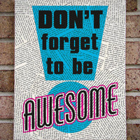 "Great Graduation Gift - Canvas Wall Art: ""Don't Forget to be Awesome"" Quote Art / Prints on Canvas"
