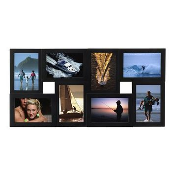 "Dimensional 8-Opening Collage Frame - Black (4x6"")"