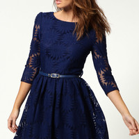 Ruth All Over Zip Back Lace Dress