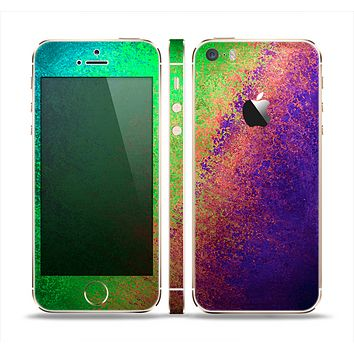 The Vivid Neon Colored Texture Skin Set for the Apple iPhone 5s